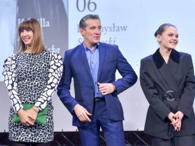 Wernisaż kalendarza ATM Grupy 2019 <br>                     Grażyna Wolszczak, Przemysław Sadowski, Sandra Drzymalska <br>                     fot. Piętka Mieszko/AKPA <br>